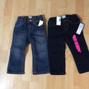 Children's Place 2 pairs of denim jeans NWT